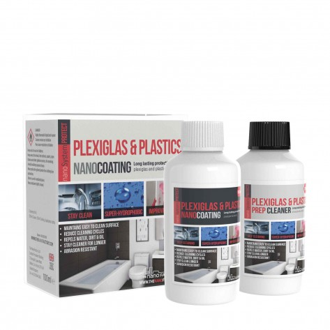 PROTECT Plexiglass & Plastics Kit (Coating + Cleaner)